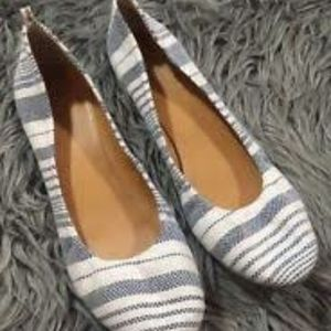 Cute Blue and White Flats